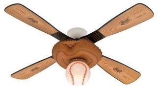 Hunter Fan Ceiling Fan, Baseball - eclectic - ceiling fans - by Target
