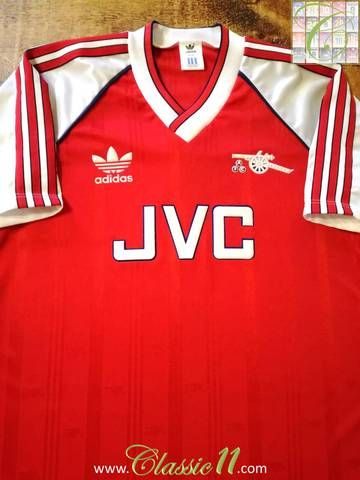 outlet store 81a2e ebda8 Official Adidas Arsenal home football shirt from the 1988/89 ...