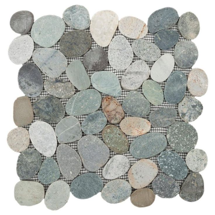 Kayan River Pebble Stone Mosaic - 12in. x 12in. - 100032523 | Floor and Decor FOR SHOWER FLOOR 44 SQ FT