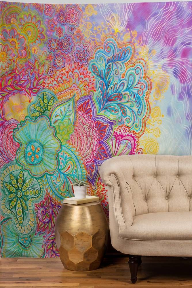 colorful boho tapestry