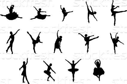 Bale · vücut · siluet · dansçı · gölge · insan - vektör ilüstrasyonu © Slobodan Djajic (Slobelix) (#443993) | Stockfresh