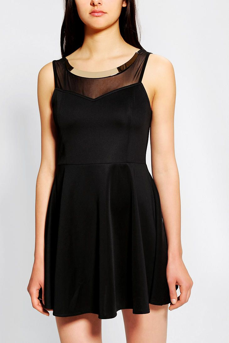 Urban Outfitters - Reverse Gold Plate Skater Dress