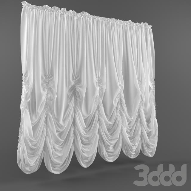 3d модели: Шторы - Французские шторы