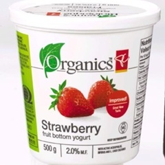 PC Organics Strawberry Yogurt