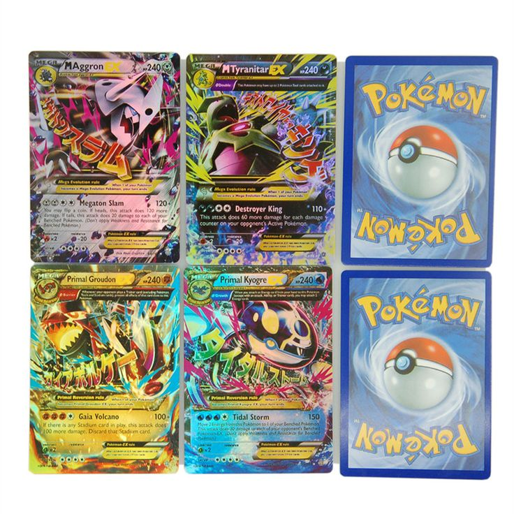 New 100Pcs/Set Pokemon Cards EX MEGA Card Toys Games Playing English Pokemon Pikachu Collectable Card Kids Gift