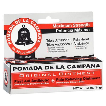 Pomada De La Campana First Aid Antibiotic/Pain Relieving Ointment - 0.5 oz.