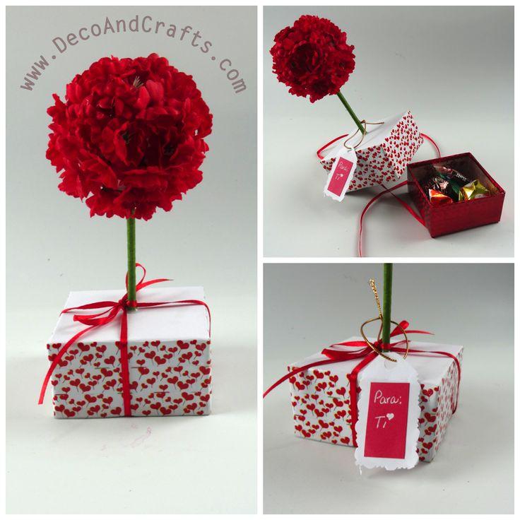 Regalos para San Valentin, Dia de las Madres o Aniversario, este arbolito - dulcero aplica para cualquier ocasión. video: http://youtu.be/cSsj4CPi1Vo
