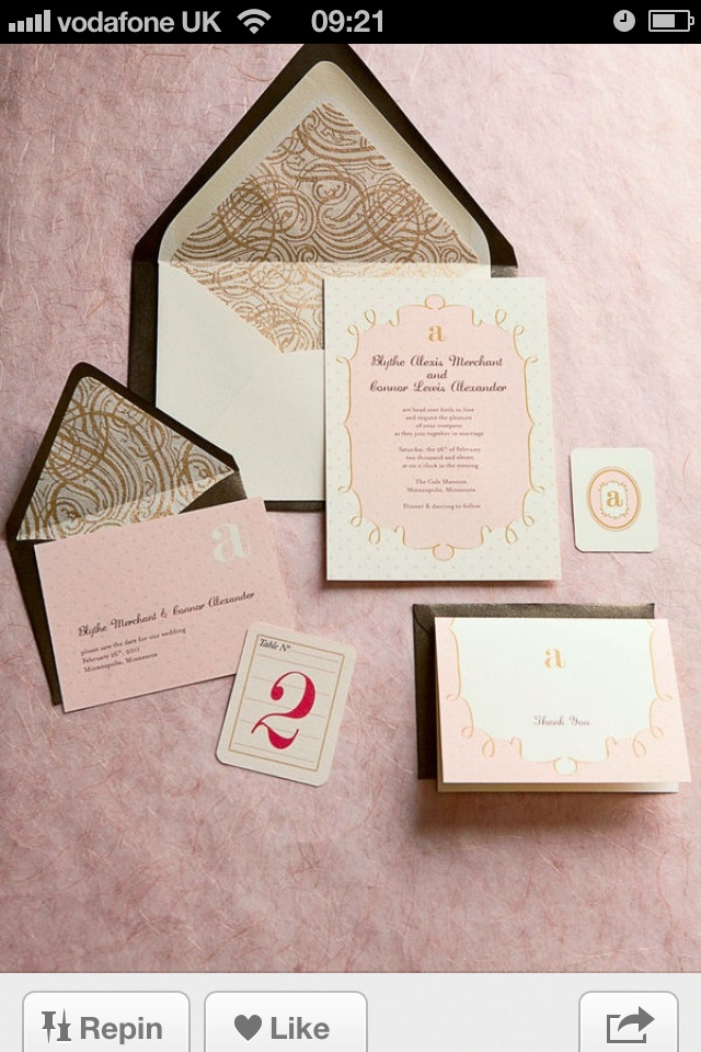 how to address wedding invitations inside envelope%0A Love the inside envelope pattern