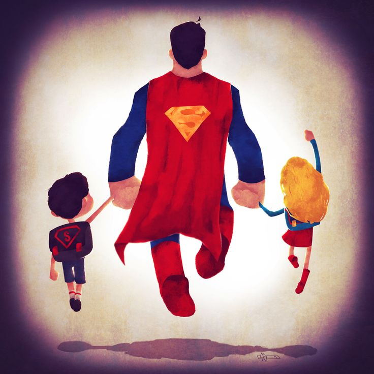 O Ilustrador Andry Rajoelina vive em Paris e trabalha com séries animadas. Ele fez essa série graciosa imaginando o casting de heróis da DC Comics com seus rebentos.