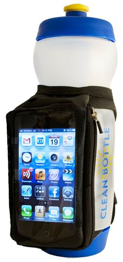 The Runner by Clean Bottle looks awesome. I never have anywhere to put my phone, but I don't like to run wo it in case something happens.