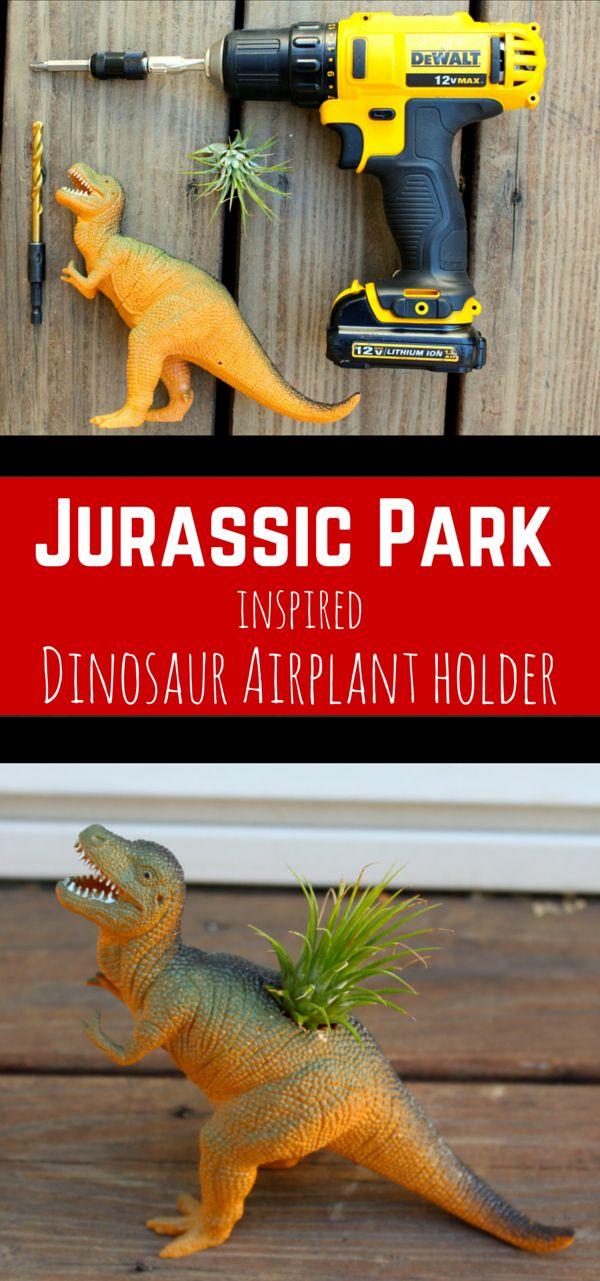 Jurassic Park Inspired T rex Dinosaur Air Plant Holder Planter