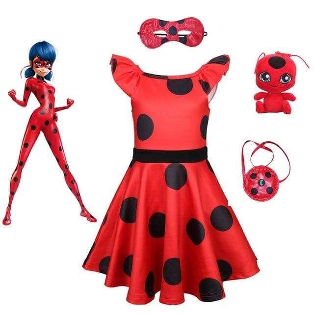 306b708b5e A fantasia Ladybug é ideal para as fãs dessa incrível heroína. A versão  vestido dessa