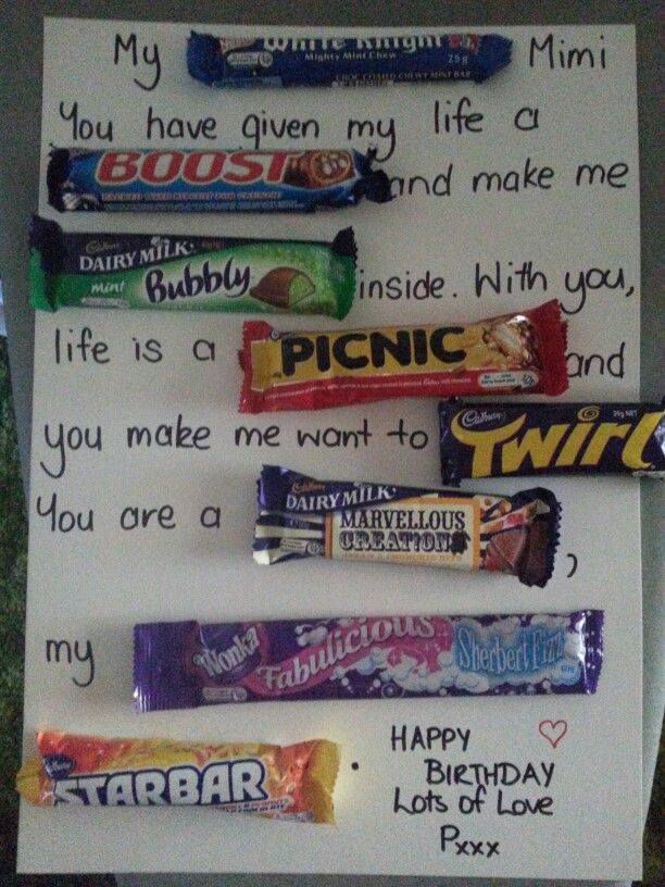 cards made with candy for father's day