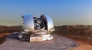 El mayor telescopio óptico/infrarrojo del mundo tendrá 39,3 metros de diámetro, estará instalado en Chile y empezará a operar a principios de la próxima década. Se llama E-ELT (siglas en inglés de Telescopio Europeo Extremadamente Grande). + info: http://www.ecoapuntes.com.ar/2012/06/luz-verde-al-telescopio-mas-grande-del-mundo/
