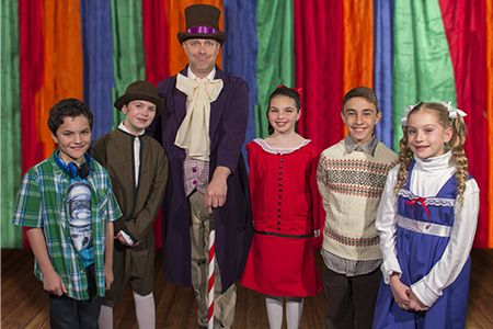 """A world famous yet mysterious candy man is about to invite five lucky children into his magical chocolate factory, where delicious adventures await.  The Yardley Players present """"Willy Wonka,"""" a musical based on the famed Roald Dahl book, at Mercer County Community College's Kelsey Theatre July 1-10, 2016."""