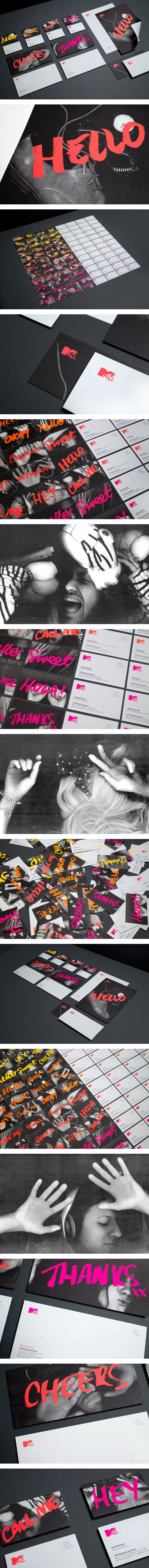 MTV Stationery on Behance