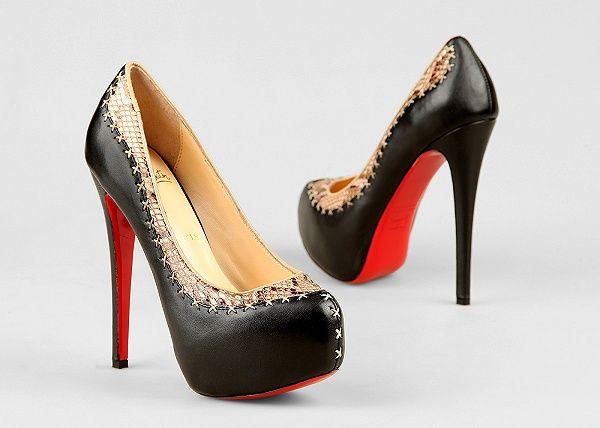 Черные туфли на скрытой платформе