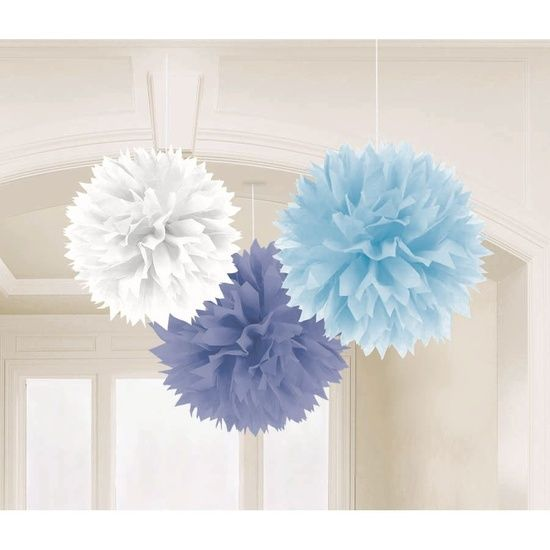 how to make tissue paper decorations for baby shower