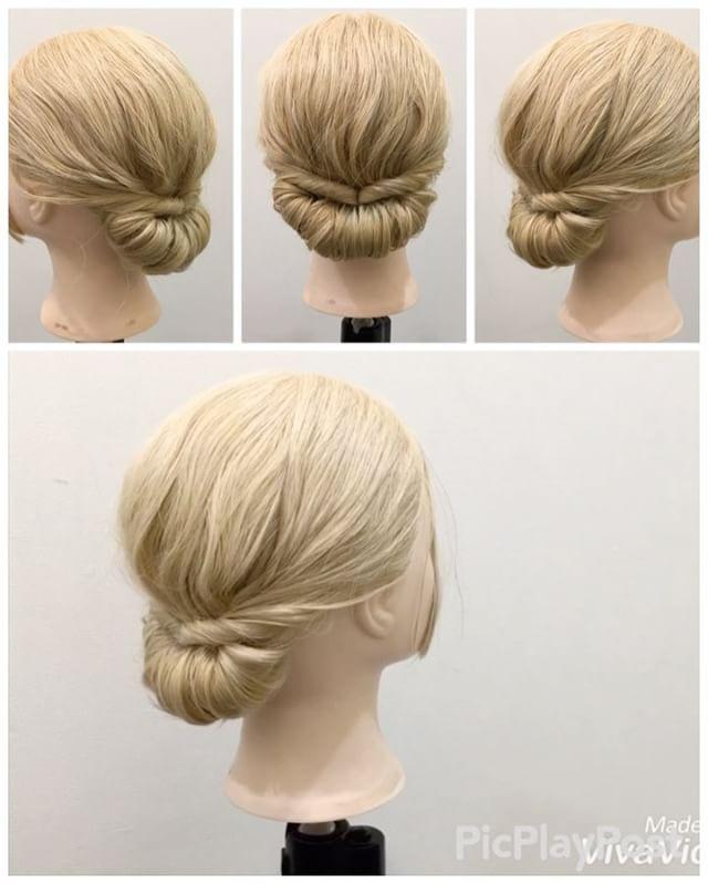 Rolled bun hairstyle   ォロワーさんリクエスト★ ギブソンタックの作り方✨ 1,少しだけ髪を取りゴムで結びます 2,アレンジスティックを使って少しずつ髪を1番に巻きつけていきます 3,全部巻きつけたら最後にピン留めします Fin,整えたら完成です 今回はあんまり崩さないキレイなアレンジ✨ 参考になれば嬉しいです^ ^ #ヘア#hair#ヘアスタイル#hairstyle#サロンモデル#サロモ#撮影#編み込み#三つ編み#フィッシュボーン#ロープ編み#まとめ髪 #アレンジ#結婚式#ブライダル#ヘアアレンジ#アレンジ動画#アレンジ解説#香川県#高松市#丸亀市#宇多津#美容室#美容院#美容師#ギブソンタック