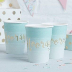 Pick and Mix Mint Green Ombre Paper Party Cups - Pick and Mix - Party Themes A-Z - Kids' Party