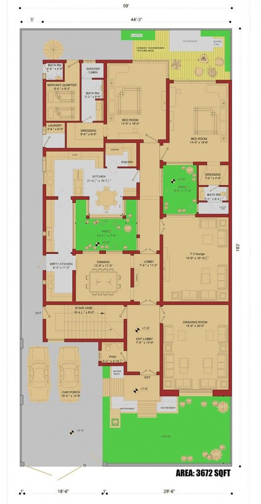 450 sqm house plan 1 kanal house plan home plans for One kanal house plan