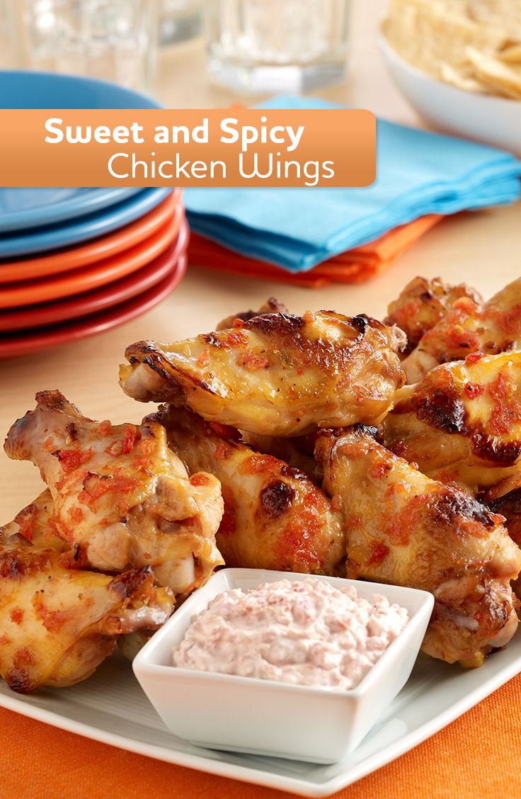 Try this recipe for sweet hot wings made with spicy tomatoes and honey!
