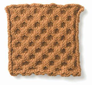 Free Knitting Pattern - Stitch Patterns: Honeycomb Cable Stitch