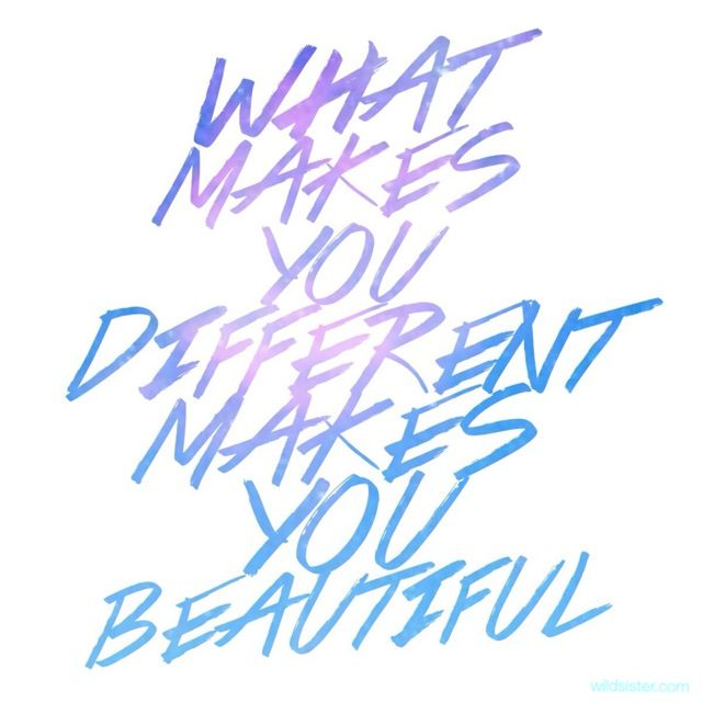 What Makes You Different is What Makes You Beautiful via @wildsistermag   #diversity