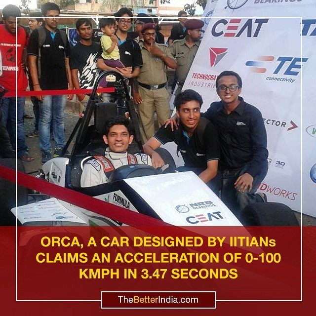 Over 75 students from different engineering streams of IIT Bombay have developed a racing car named ORCA which is now going to compete against similar cars at the Formula Student UK competition. Over 100 student teams from around the world will participate in the competition.  It took the students of IIT Bombay nine months to design the car and they launched it with NRB Bearings Tata Motors CEAT Tyres and other sponsors on Sunday.  The car has a speed of more than 145 kmph.  With an..
