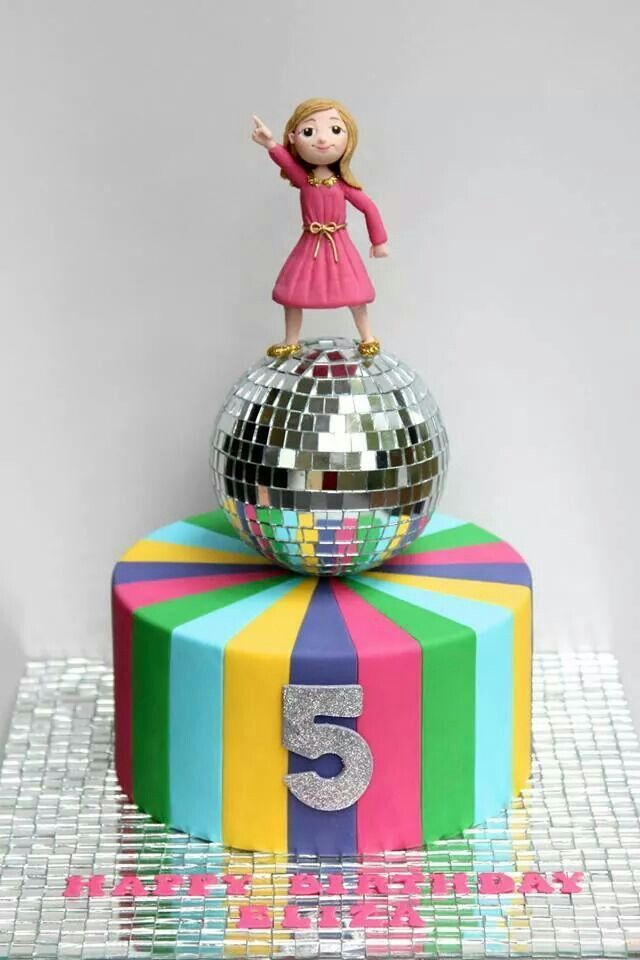Image Result For Disco Cake With Images Disco Party Kids