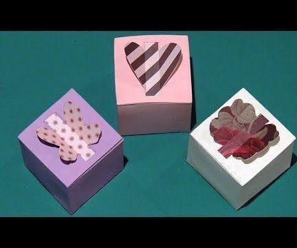 DIY Boite Cadeau en papier - Comment faire une boite carrée en forme de coeur, papillon...