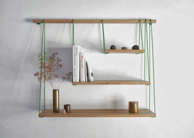 fuctional bridge shelves design