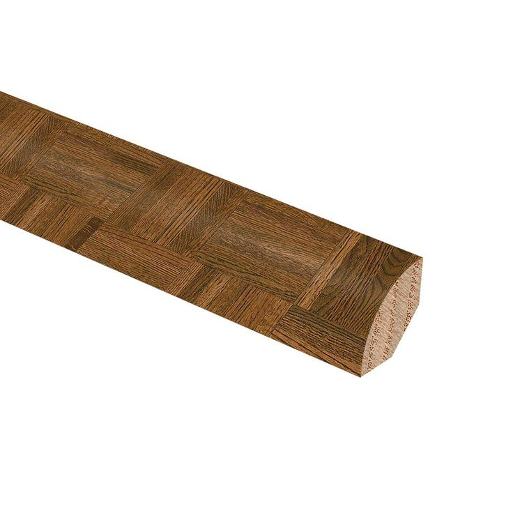 Natural Oak Parquet Gunstock 3/4 in. Thick x 3/4 in. Wide x 94 in. Length Hardwood Quarter Round Molding