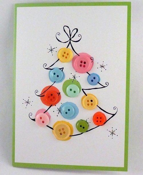 Дети ждут новый год. День второй, новогодние открытки своими ...