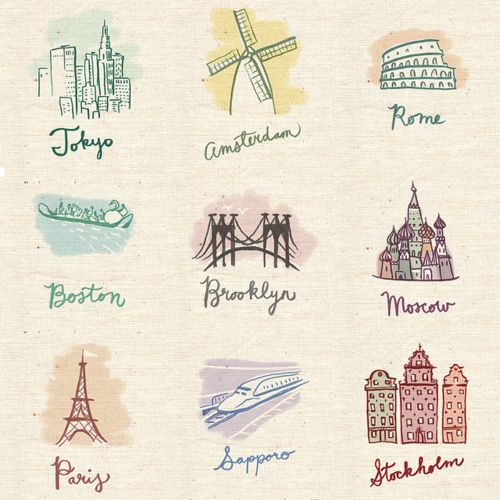 I just want to travel everywhere-- cute. wish it was a card.Places To Visit, Paris, Buckets Lists, Boston, Dreams, Travel Checklist, Cities, Drawing, World Travel