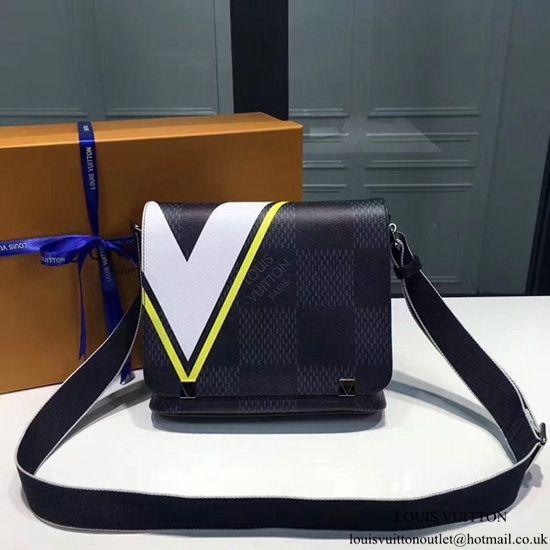 6b04a8d1c52 Louis Vuitton N44004 District MM Messenger Bag Damier Cobalt Canvas ...