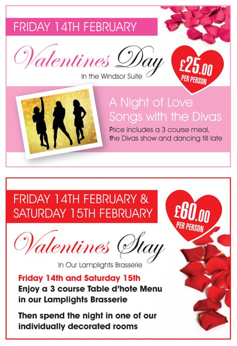 """By Westcliff Hotel @hotel_westcliff Valentines Day is fast approaching Chaps - so we have a couple of special occasions you can treat your lovely other half too.  On Friday 14th February from 7.00 p.m. in the Windsor Suite a 3 Course Dinner Dance with the fabulous tribute act """"The Diva's"""" only £50.00 couple. An evening of Love songs and dancing till late.  call 01702 345 247 to book you table or purchase tickets http://www.westcliff-hotel.co.uk/ https://www.facebook.com/westcliffhotel"""