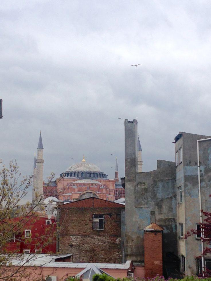 Aya Sofya from a distance.
