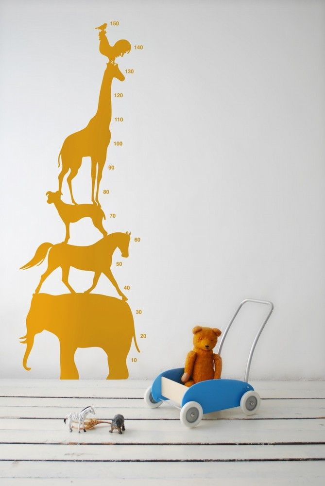 animal tower..how tall am I?..wall sticker love...for them: Ferm Living, Animals, Animal Towers, Wall Decal, Growth Charts, Height Chart, Wall Stickers, Towers Wall, Kids Rooms