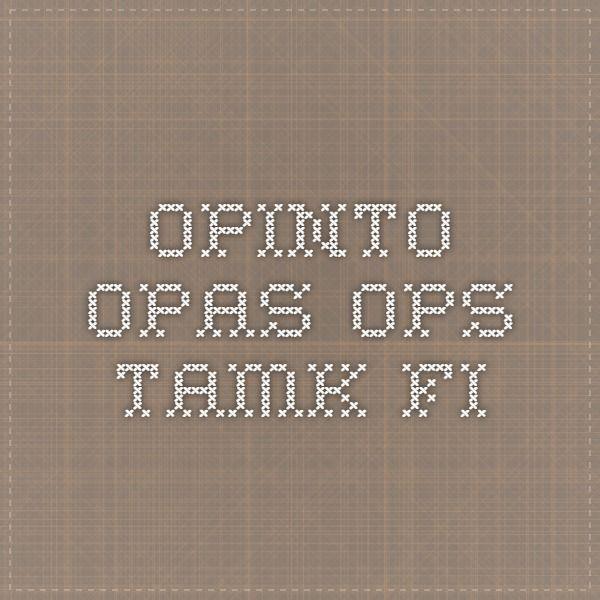 TAMK opinto-opas opinto-opas-ops.tamk.fi