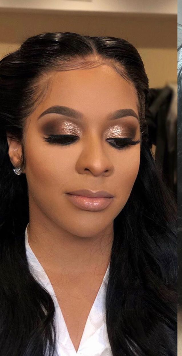 soft wedding makeup Appreciating this Glamorous bridal look I created for londonfineass I met her on her wedding day and she told me she had no worries when Black Bridal Makeup, Black Girl Makeup, Bride Makeup, Girls Makeup, Wedding Makeup, Maquillage Yeux Cut Crease, African Makeup, African American Makeup, Braut Make-up