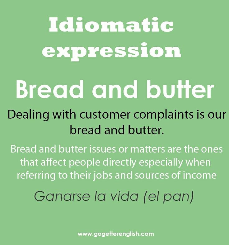 Bread And Butter Letter Meaning