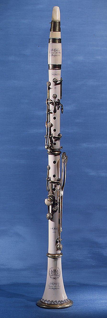Clarinet in B-flat  Charles Joseph Sax (1791-1865)  Date: 1830 Geography: Brussels, Belgium Medium: Ivory, brass