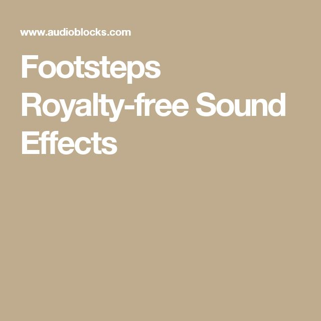 Footsteps Royalty-free Sound Effects