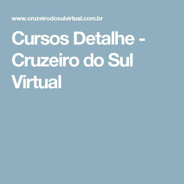 Cursos Detalhe - Cruzeiro do Sul Virtual