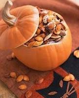Roasted pumpkin seeds!