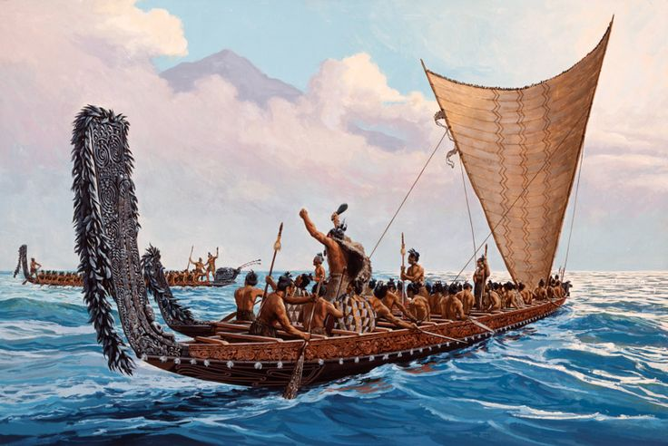 The simplest canoes were dugouts, made by hollowing out a log. Other canoes can be made by joining planks together and waterproofing them. They made sails by weaving together coconut or pine leaves. For longer trips, they used large double-hulled canoes. They had large ones that were 30m long and could carry up to 300 people. To travel futher, large canoes could carry less people and more supplies.