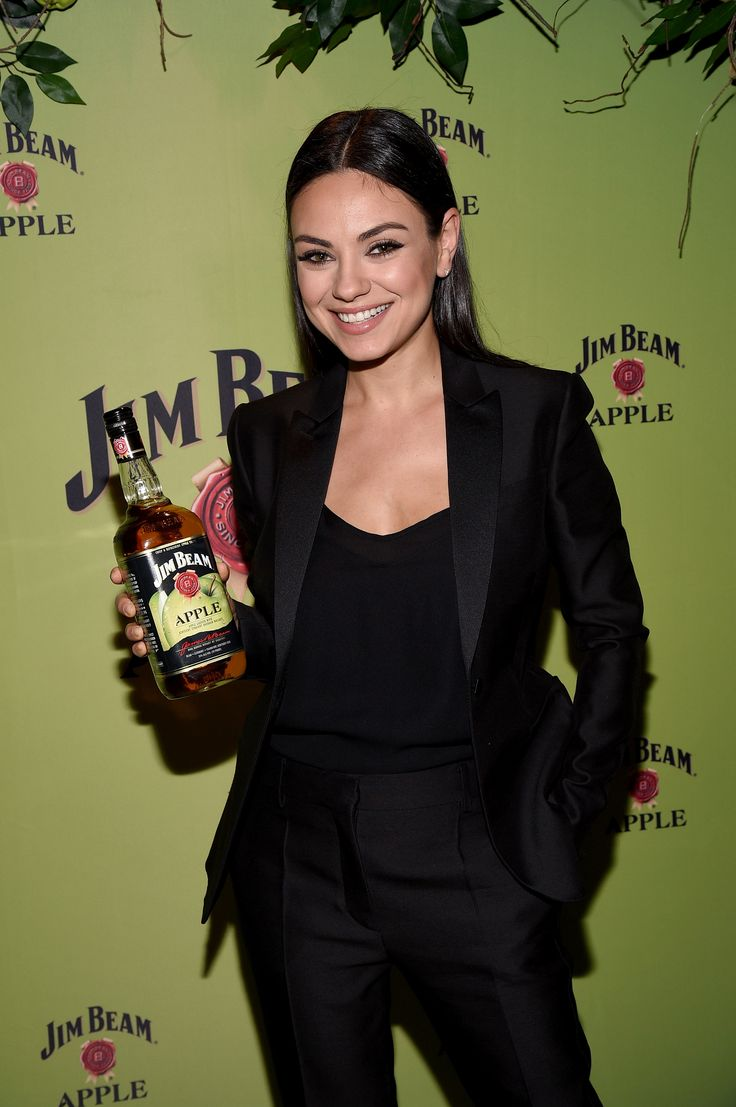 Mila Kunis attends the Jim Beam Bourbon launch event for its newest flavored product Jim Beam Apple at The Paramount Hotel on Tuesday, October 20, 2015 in New York City
