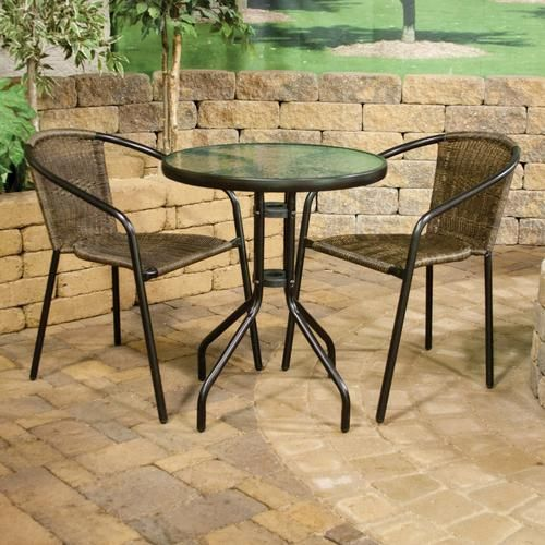 3 piece wicker bistro set at menards 80 dreamhome pinterest love this love and bistros - Bistro sets for small spaces collection ...