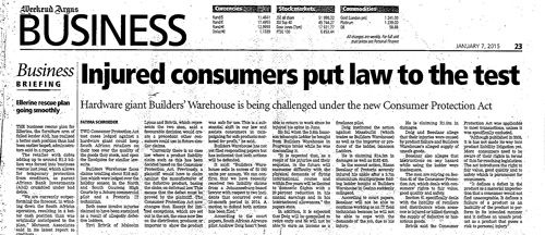 LATEST CASE: Injured Consumers Put Law to the Test  http://bit.ly/injuredconsumers